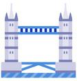 tower bridge flat vector image vector image