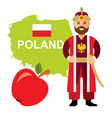 travel concept poland flat style colorful vector image vector image