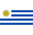 uruguay flag icon in flat style national sign vector image vector image