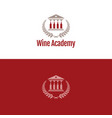wine academy logo and icon