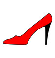women shoe red sign 101 vector image vector image