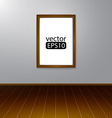 Wooden rectangular 3d photo frame with shadow vector image vector image