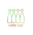 Logo design for bar with bottles vector image