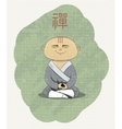 meditating Buddhist monk vector image