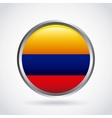colombian flag colorful icon vector image