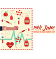 14th june donor blood day vector image