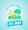 24 may Day of parks vector image vector image