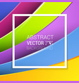 3d abstract lines full color background vector image vector image