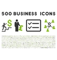 500 Flat Business Icons vector image