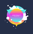 abstract background with splashes and triangle in vector image