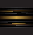 abstract yellow grey black line circuit cyber vector image vector image