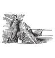 alcaeus vintage vector image vector image