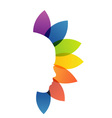 Alternative medicine or therapy logo vector image vector image