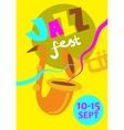 Autumn Jazz Festival Concept vector image vector image