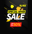 autumn sale special offer up to 50 discount banner vector image vector image