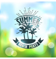 banner for summer beach party vector image vector image