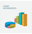 bar chart pie chart infographics elements 3d vector image vector image