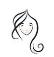 beautiful girl hair salon icon vector image vector image