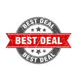 best deal round stamp with ribbon label sign vector image vector image