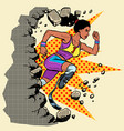 breaks the wall disabled african woman runner with vector image vector image