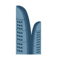 business centre isolated icon vector image vector image