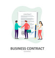 business contract signing corporate document vector image vector image
