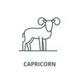 capricorn line icon linear concept vector image vector image
