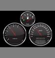car dashboard black gauges set speedometer vector image vector image