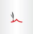 chimney smoke house roicon logo vector image