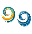 Colourful ocean waves vector image