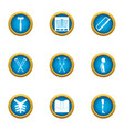 condition of the internals icons set flat style vector image vector image