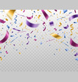 confetti falling multicolored foil and paper vector image