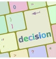 decision button on computer pc keyboard key vector image vector image