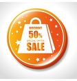 discount special offer sale golden badge vector image
