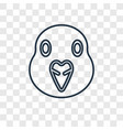 dove concept linear icon isolated on transparent vector image