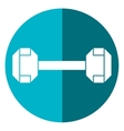 dumbbell weight fitness gym icon shadow vector image