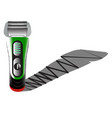 electric shaver on an empty background product vector image vector image