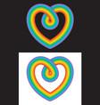 everlasting love rainbow infinity heart symbol vector image