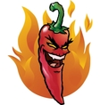 evil red chili pepper vector image