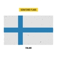 Finnish grunge flag with little scratches on vector image vector image