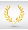 gold laurel wreath symbol of victory vector image