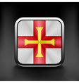 Guernsey icon flag national travel icon country vector image vector image