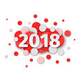 happy new year 2018 red background decoration vector image