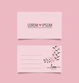 Happy Valentines Day greeting card design vector image vector image