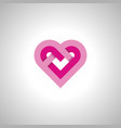 heart image icon and symbol vector image vector image