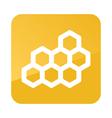 honeycomb bee icon garden
