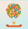 hot air balloon in sky postcard vector image vector image