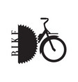 isolated bike logo vector image