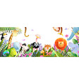 jungle baby animals in tropical forest for kids