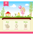 kid template for web site